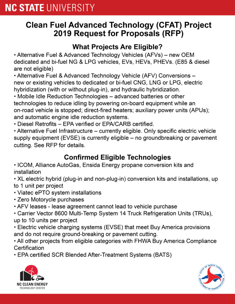 Clean Fuel Advanced Technology (CFAT) Project | NC Clean Energy